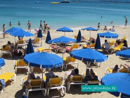 plage, parasols, mer, voyage